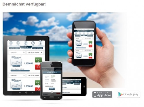 Bald auch mobiles Trading bei Top Option