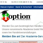 Webinare beim Broker iOption