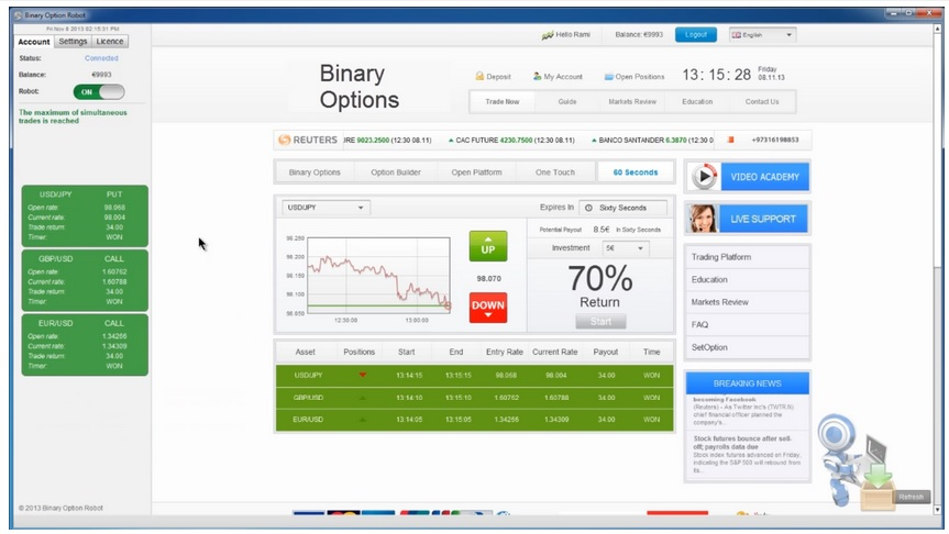 Trade binary options in singapore