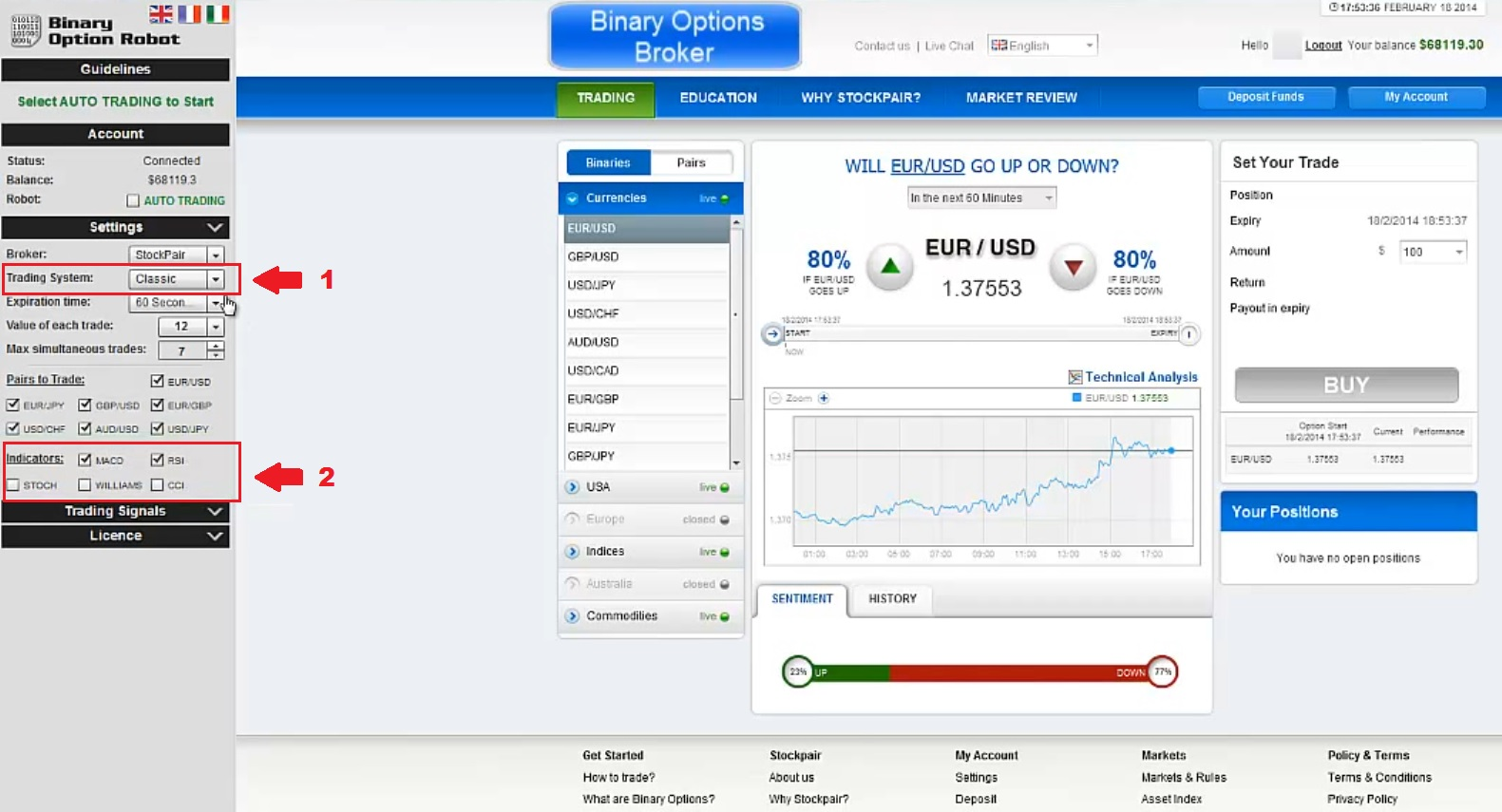 Binary options auto trade software