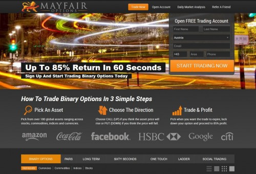 Neuer Broker MayfairOptions