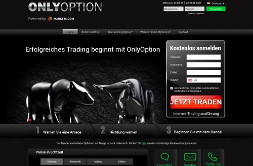 Neuer Broker OnlyOption