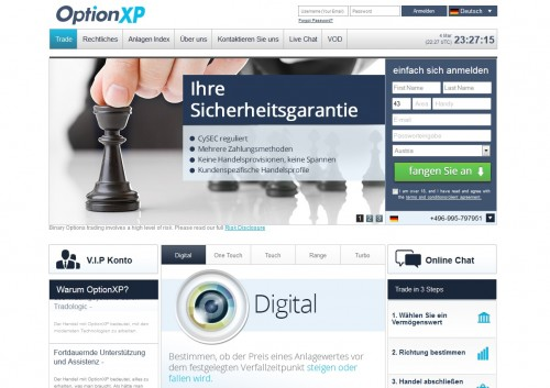Neuer Broker OptionXP