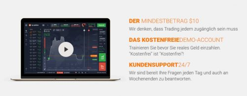 Sehr gute Konditionen beim Binary Broker IQOption