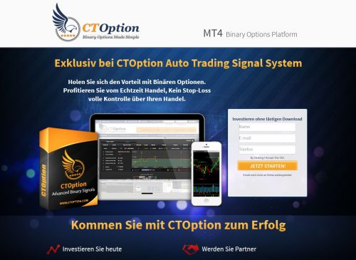 Binäre Optionen Autotrading Signale bei CTOption