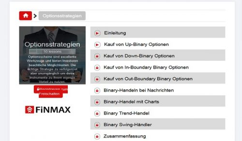 Videos über Optionsstrategien beim Broker Finmax nutzen